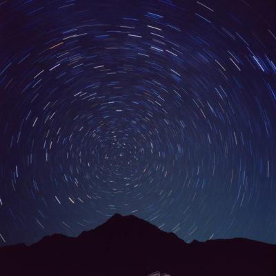 朝日岳 北極星